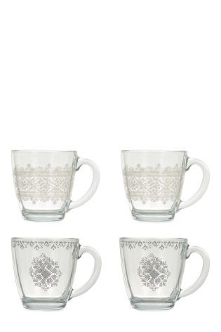 Buy Set Of 4 Mulled Wine Glasses from the Next UK online shop