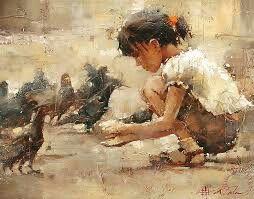 La fille aux pigeon, A.Cohn