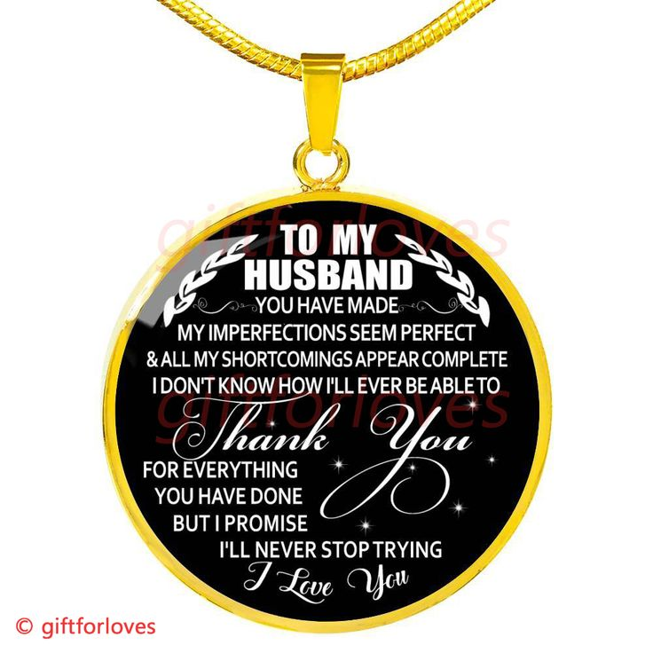 To My Husband Luxury Necklace: Husband And Wife Necklace, Necklace For Husband, Valentine Gift For Husband553HS