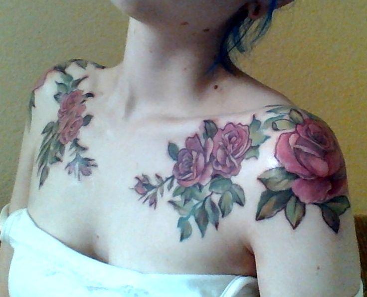 Best 25 rose tattoos tumblr ideas on pinterest for Shoulder piece tattoos tumblr