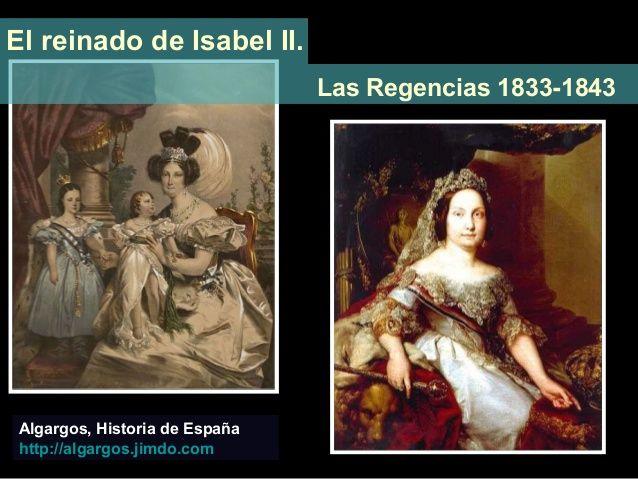 Tema 12.- El reinado de Isabel II. Minoría de edad. 1833-43