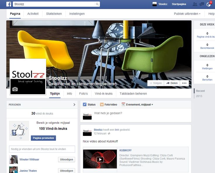 Facebook pagina Stoolzz