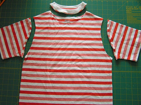 Turn a boys' hand-me-down tee into a cute girls' tunic!