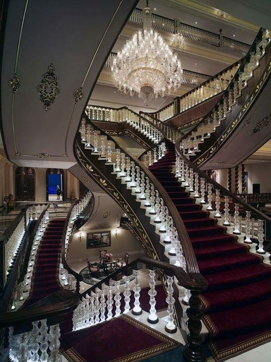 Mardan Palace lit staircase by germex73