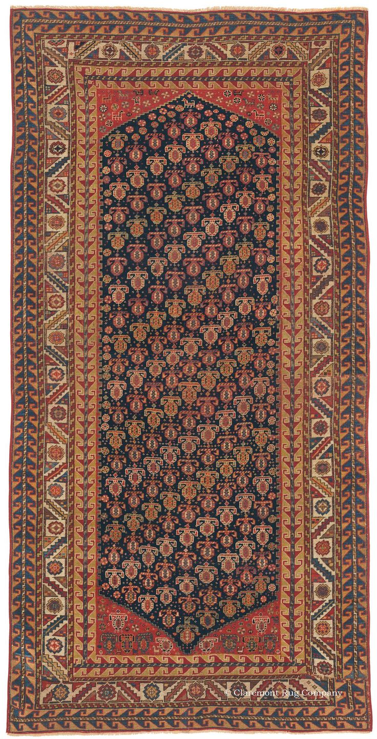Qashqai Southwest Persian 3ft 10in X 7ft 4in Circa 1850 This Striking