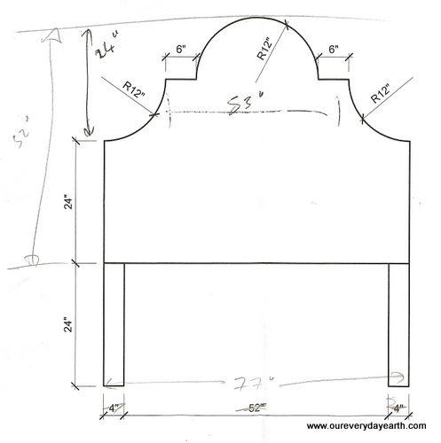 King size upholstered headboard measurements