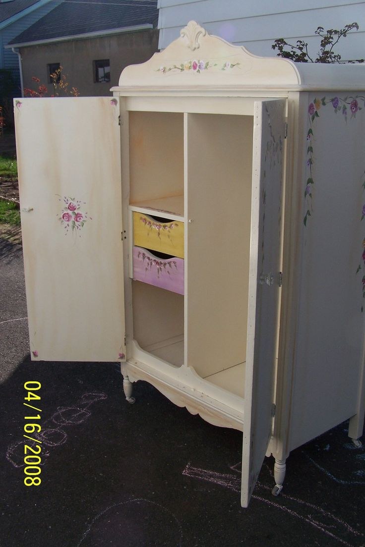 Shabby Chic Furniture Bedroom 17 Best Images About Armoire Chifferobe Wardrobe Vintage Custom