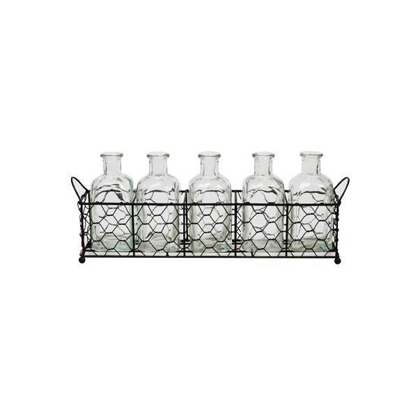 5 bottles in wire tray #worthynzhomeware wwworthy.co.nz