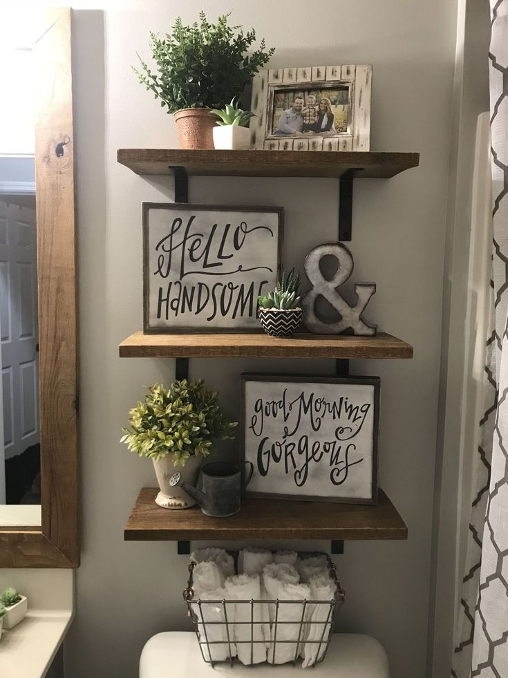 35+ Wonderful Farmhouse Bathroom Makeover Ideas Update (Best Images #bathroom #f…  – Home upscaling