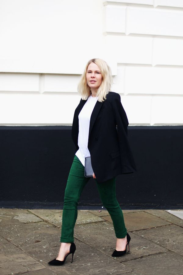 colored pants suede green