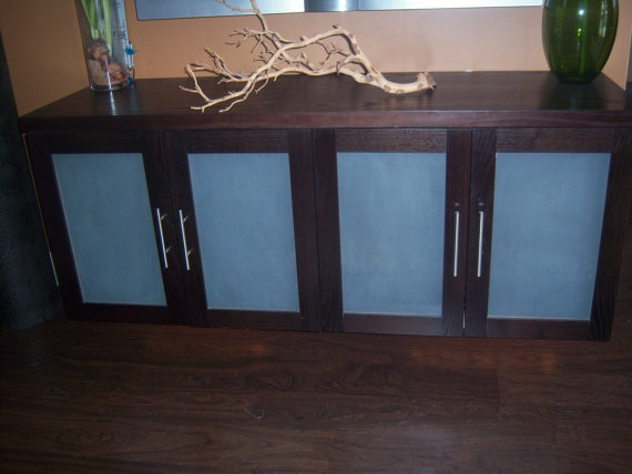 Love this floating cabinet // used for an entertainment center! Awesome  =)