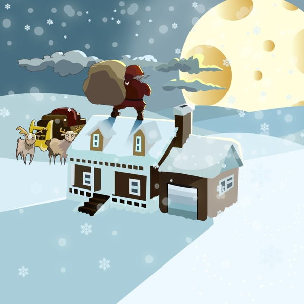 Christmas illustration 2012 by Andy Heather, via Behance