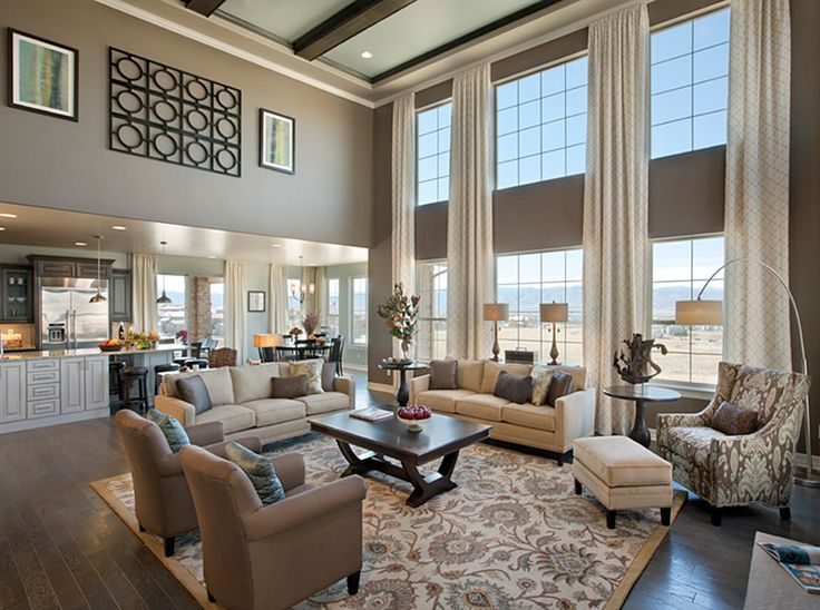 Image result for open concept family room seating
