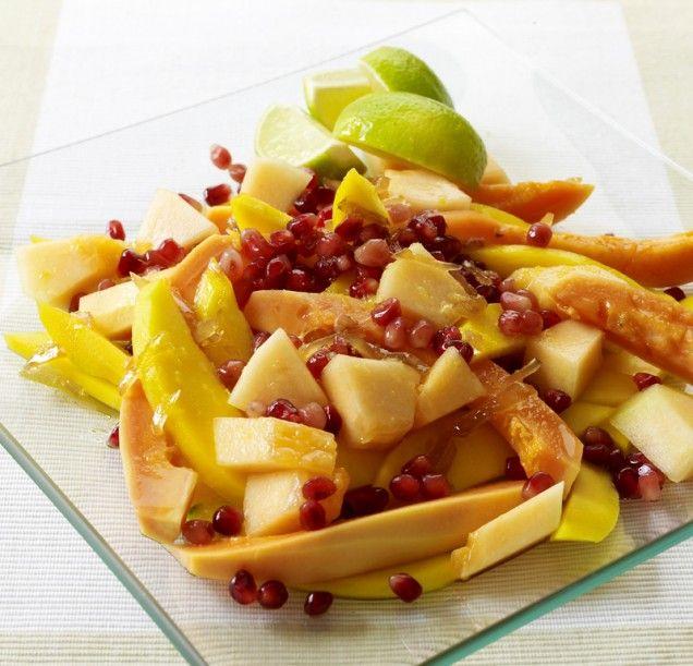 Mango and Papaya Salad, yes I shall paleo-ize this