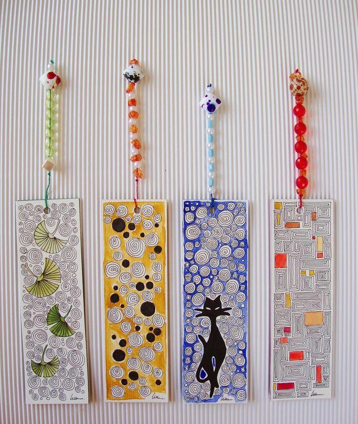 Marcapáginas personalizado sobre papel de acuarela / Customized bookmark on watercolor paper