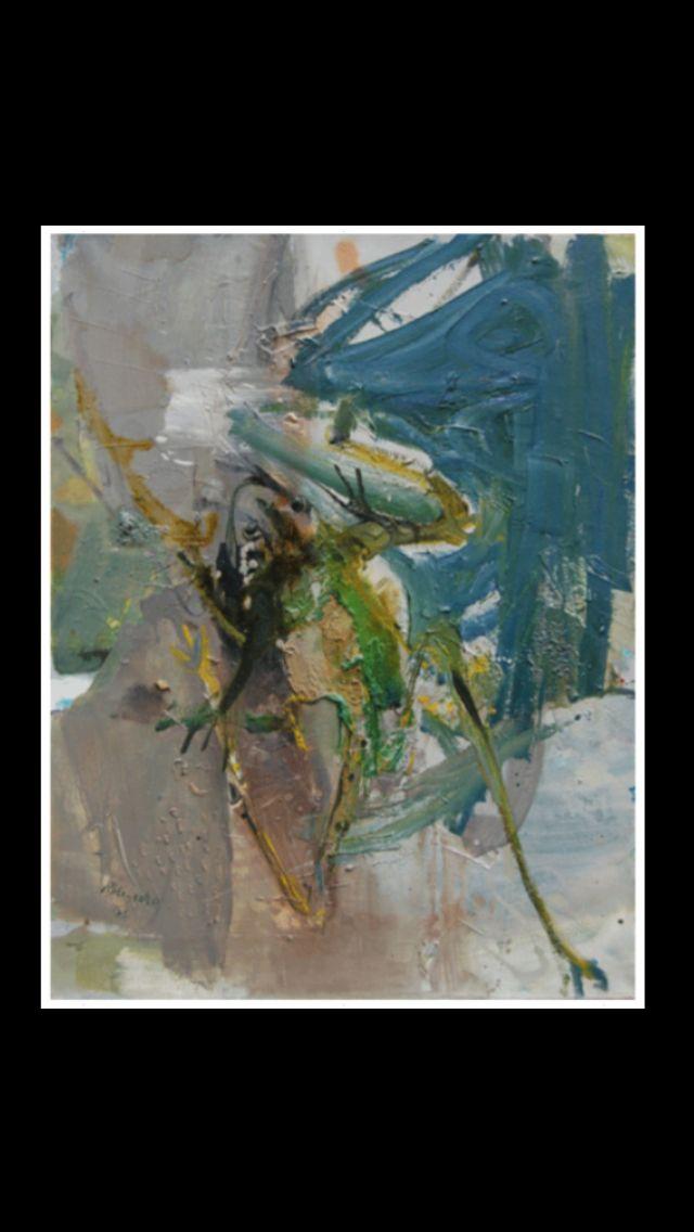 """Paul Rebeyrolle - """" La Grenouille """", 1962 - Huile sur toile - 116 x 89 cm"""