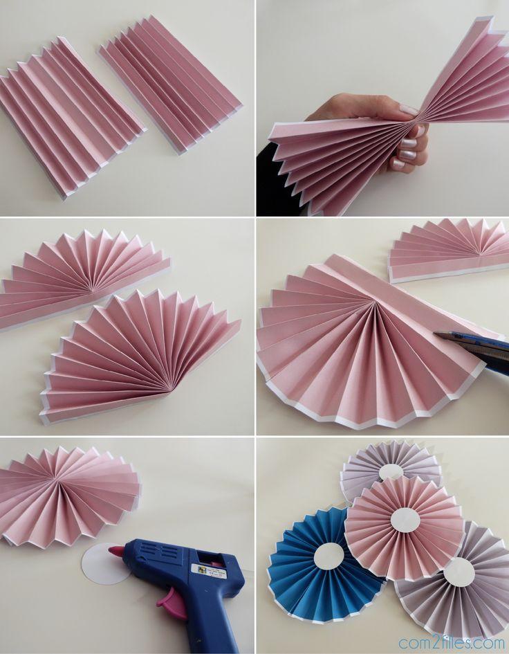 DIY rosace papier - rosette paper - petite