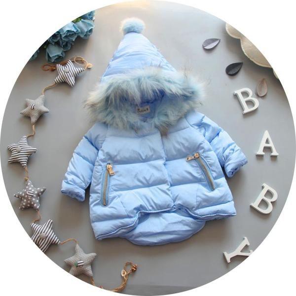 Детские куртки осень-зима из Китая :: NI Fang зимняя девушка ребенка первый день рождения принцессы пальто длинные пальто теплая куртка сверху вниз пальто хлопка.