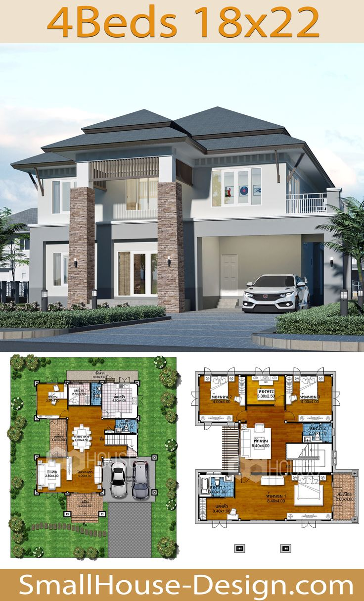 House Plans Idea 18x22 With 4 Bedrooms House Plans Small House Design Fantasy House