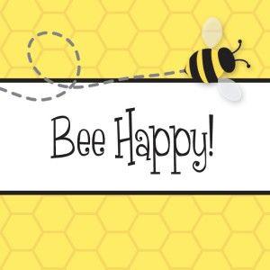 Bee Happy Honeycomb Gift Tag