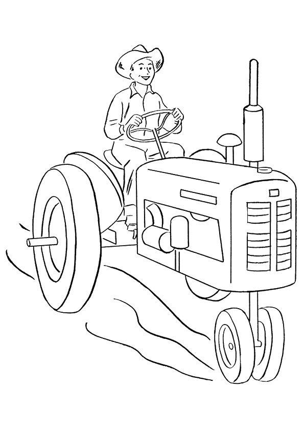 Tractor Colouring In Pages John Deere : 70 best kinder kleurplaat images on pinterest