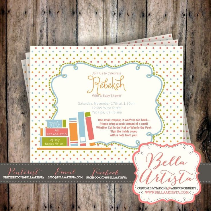 baby shower invitation wording for bringing diapers%0A Books for Baby Invite  Book Shower  Reading Shower Invitation by  BellaArtista Invitations www