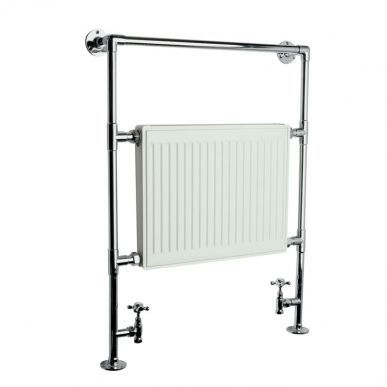 Trent - Traditional Heated Bathroom Towel Radiator Rail 910mm x 640mm - Image 2
