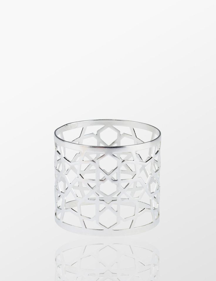 Nak's Rumi Napkin Ring ( Silver) - Myra Store