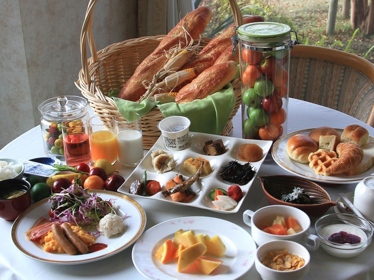 美味しい朝食をめしあがれ。