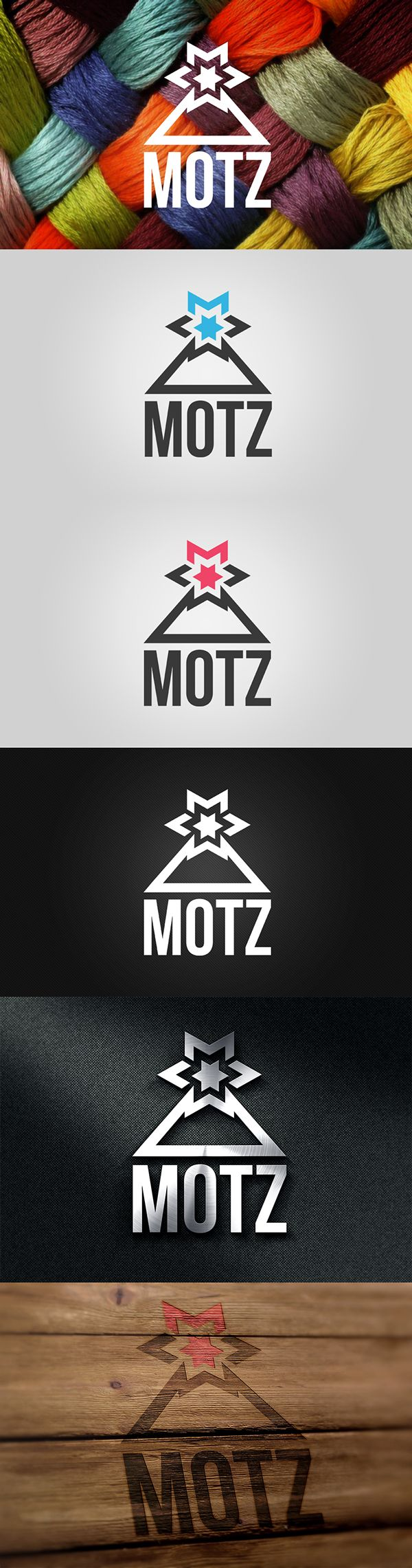 "A logo I made for the brand of a friend, Sonja. She is a mountain enthusiast, professional ski rider and the number one fan of snowflakes. She is also into making winter hats under the name ""MOTZ"" (Romanian word for pom pom)"