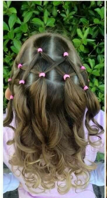 Cute hair for little girl!