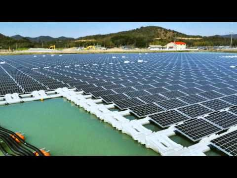 ▶ Kyocera TCL Solar Inaugurates Floating Mega Solar Power Plants in Hyogo Prefecture, Japan - YouTube