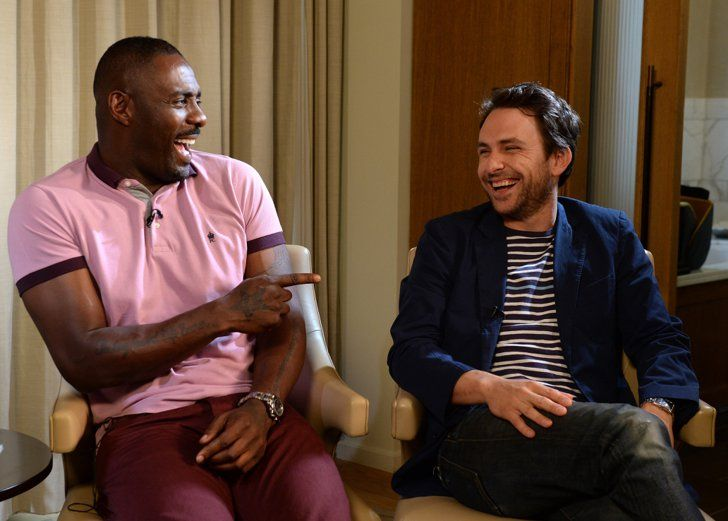 Pin for Later: Everyone Wants a Piece of Idris Elba With Charlie Day