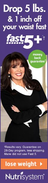 As seen on TV. Loose weight the Nutrsystem way with Marie Osmond