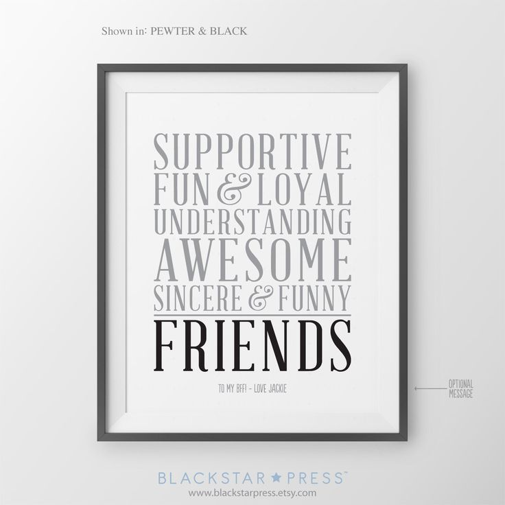 Best Friend Gift for Friend Long Distance BFF Birthday Gift for Friend Christmas Gift Bridesmaid Gift Maid of Honor Gift Bridal Party Gift by BlackstarPress on Etsy https://www.etsy.com/listing/250994005/best-friend-gift-for-friend-long