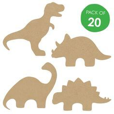 Wooden dinosaur shapes