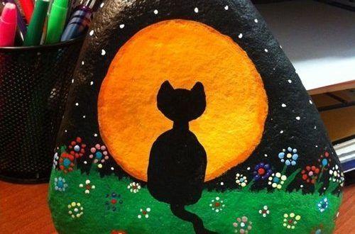 Taş üzerine kedi yapımı... Bu harika kedilere bayılacaksınız...