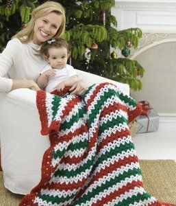 Holiday Stripes Afghan | AllFreeCrochet.com