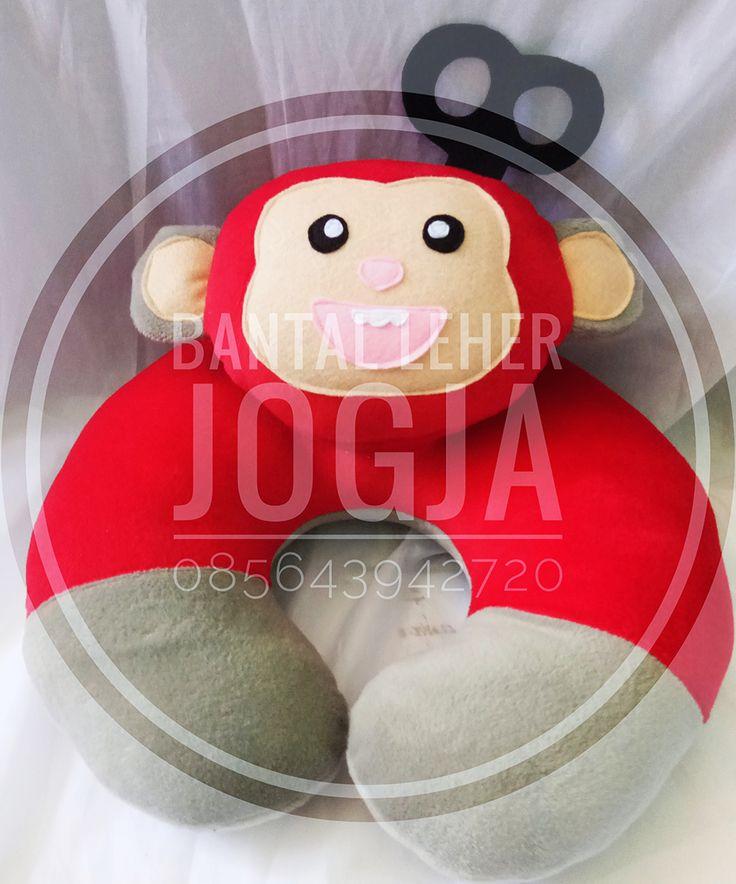 Bantal Leher Jogja Karakter Monyet REd Strong