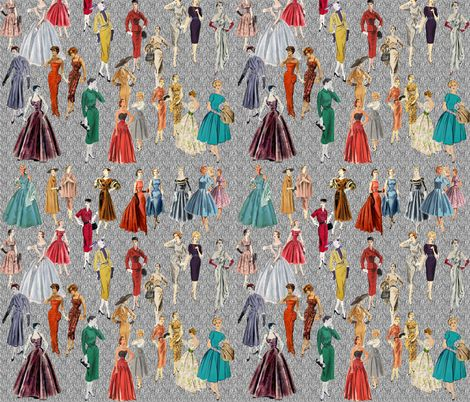 1950's fashion fabric by hollywood_royalty on Spoonflower - custom fabric