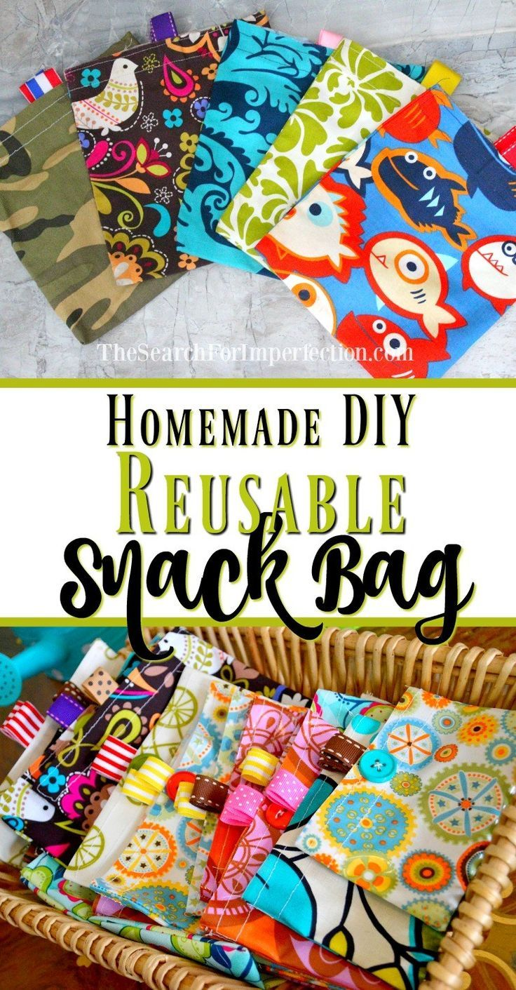 This homemade snack bag tutorial is so easy to make!