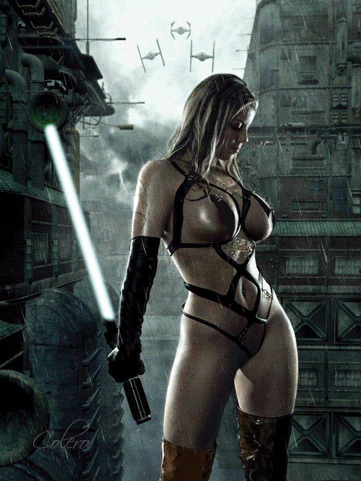 Star wars sexy jedi girls cosplay please the