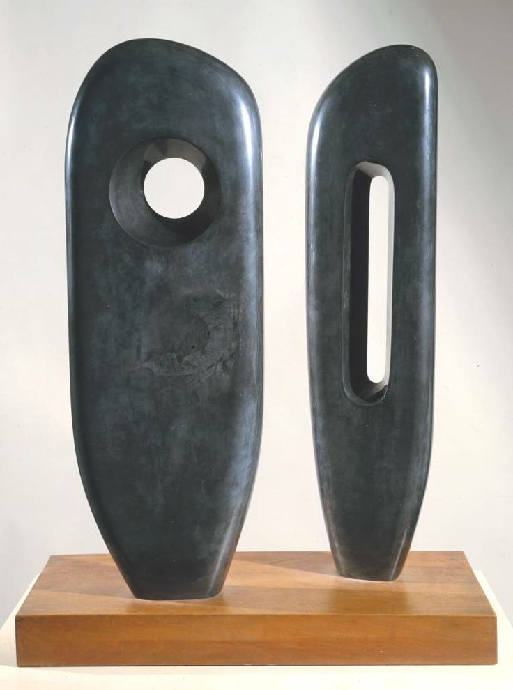 Barbara Hepworth, 'Two Figures (Menhirs)', 1964. Both Hepworth and Kossoff showed their work at the Beaux Arts Gallery.
