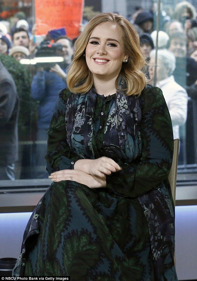 Inspiration: The singer did the moves to Adele's hit track Hello as she captioned the vide...