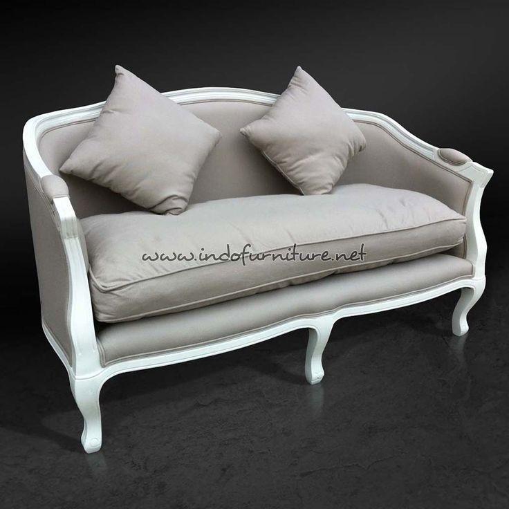 Sofa Tamu Louis Putih 2 Seater | Indo Furniture