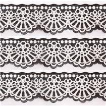 Cinta adhesiva decorativa troquelada negra encaje puntilla de Japón