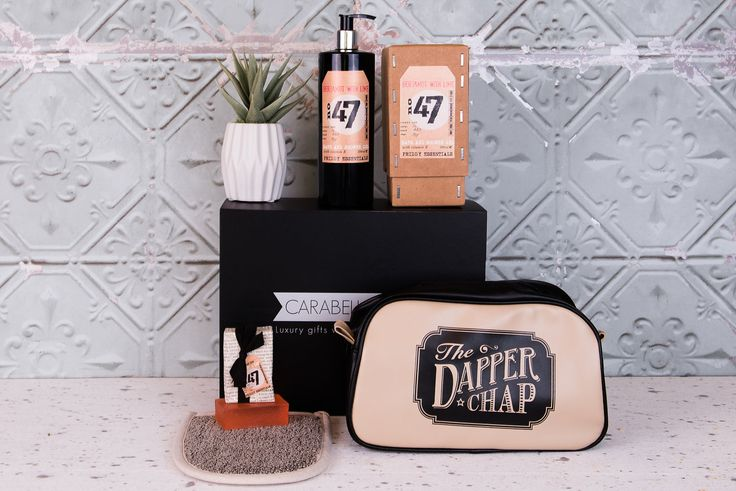 Men's toiletries gift set. Perfect for the 'dapper chap' in your life.