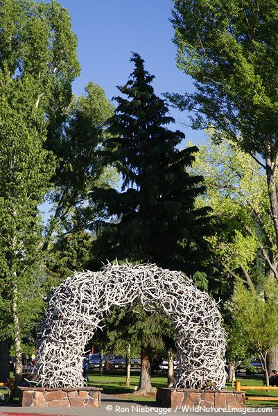 Antler Arch in downtown Jackson Hole, Wyoming-- took a picture of it in the exact same place and angle once (: