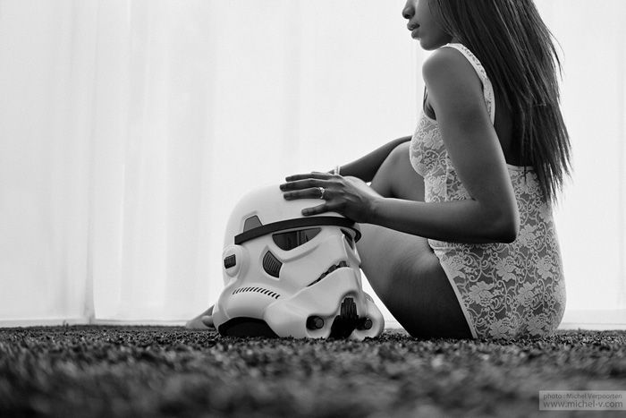 Star Wars Boudoir Photoshoot - who said you couldn't have #geekyboudoir ? When can I shoot a Star Wars boudoir session?
