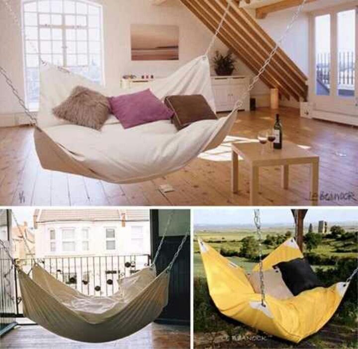 Beanbag hammocks for inside